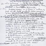 Lettre manuscrite de Monseigneur Pierre-Marie Théas