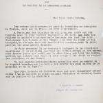 Lettre de Monseigneur Pierre-Marie Théas
