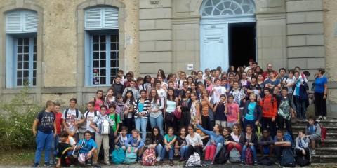 Institut Familial - Les 5èmes visitent le château Chalabre
